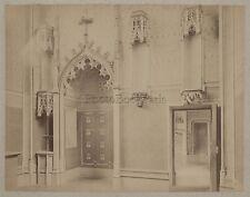 France église Château Art gothique Vintage albumine ca 1880