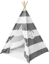 Sorbus Teepee Tent for Kids Play , Includes Portable Carry Bag for Travel (Gray)