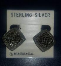 NEW ~ BEAUTIFUL MARSALA GEOMETRIC CLIP EARRINGS ~ STERLING SILVER