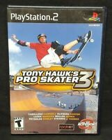 Tony Hawk's Pro Skater 3  PS2 Playstation 2 COMPLETE Game 1 Owner Near Mint Disc