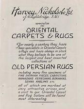 1929 Advert for 'HARVEY NICHOLS OF KNIGHTSBRIDGE' + 2 ads on back