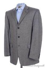 BURBERRY LONDON Gray Herringboen Tweed Wool Blazer Sport Coat Jacket - 42 L