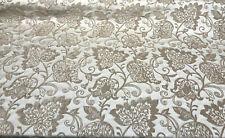 Renaissance Italian Cut Chenille Caramel Upholstery Fabric by the yard