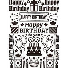 Darice anniversaire Collage Embossing Folder-carte timbre-invitation Modèle