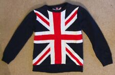 Boys Union Jack Rebel Jumper Age 9-10 Years From Primark