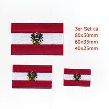 3 Österreich Flaggen mit Adler Austria Flags Wien EU Aufnäher Aufbügler Set 0950