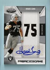 HOWIE LONG 2010 CERTIFIED FABRIC OF THE GAME JERSEY AUTOGRAPH AUTO /25
