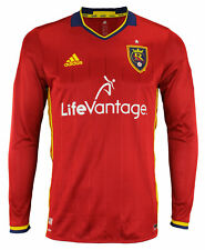 adidas MLS Men's Real Salt Lake Authentic Long Sleeve Jersey, Red
