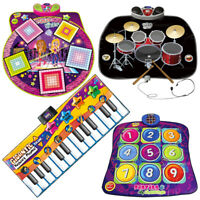 Kids Electronic Musical Play Mat Dance Sound Mixer Drum Kit Keyboard Piano Toy