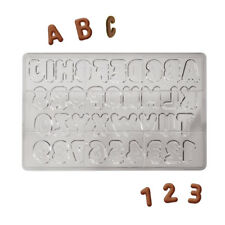 Martellato Clear Polycarbonate Chocolate Mold, Letters & Numbers