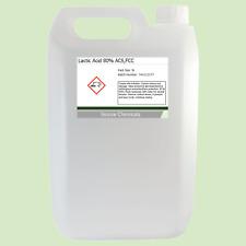 Lactic Acid 80% 5 Litre (5L) Food Grade Acne/Facial/Home Brew
