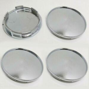 Universal 68mm Silver Chrome Car Wheel Center Hub Caps Covers  4Pcs/Set