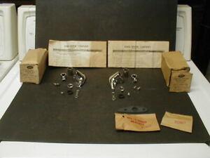 2 NOS OE 1952-1954 FORD CLOSED CARS COMPLETE SPOTLIGHT BRACKET UNIT - LH & RH
