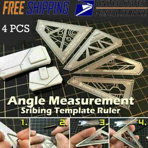 4 in 1 Angle Measurement Scribing Template Ruler Model Building Tool for Gundam