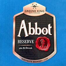 Unused Mancave Home Bar Pub Breweriana Greene King ABBOT ALE Bar Runner