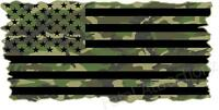 Camo American Flag Vinyl Decal sticker army military