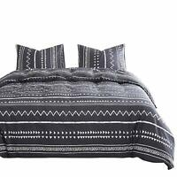 Wake In Cloud - Aztec Comforter Set, 100% Cotton Fabric with Soft Microfiber Fil