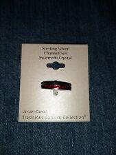 New Sterling Silver Channel Set Ring Size 6 Swarovski Crystal January Garnet $50