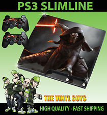 PLAYSTATION PS3 SLIM Kylo ren star wars jedi knight dark autocollant peau & pad peau