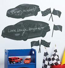Raceway Race Car Chalkboards Cars Wall Chalk Board Message Center Stickers Decal
