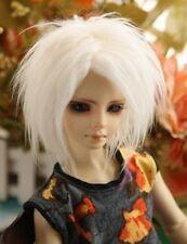 """MSD 17~18cm 7~8"""" 1/4 Fur Wig BJD Doll Hair white AOD DOD AF DK DZ DL Luts Vloks"""