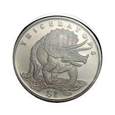 elf Sierra Leone 1 Dollar 2006 Triceratops Dinosaur