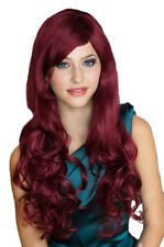 Sumptuous Red Curly Side Parting Ladies Wig/Wigs