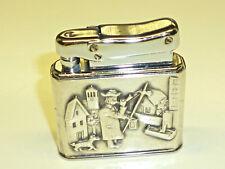 IBELO MONOPOL ART DECO WICK LIGHTER W. 925 STERLING SILVER CASE - 1952 - GERMANY