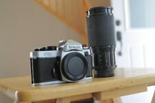 Nikon FE 2 camera body with lens new batteries and strap