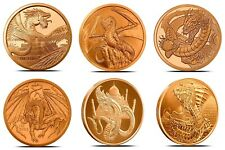World Of Dragons Aztec Welsh Chinese Norse Indian Egyptian Retired Copper Rounds