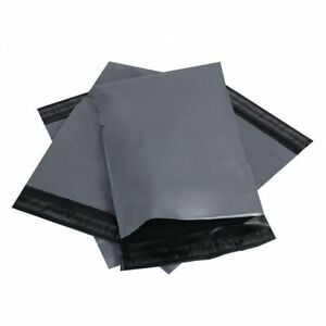 """10 Large HIGH QUALITY POLYTHENE! 10 x 14"""" Postage Poly Post Grey Mail Bags PP!"""