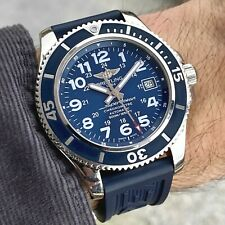 Breitling SuperOcean II 42mm Automatic Blue Dial Chronometer Dive Watch A17365
