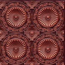 # 235 (Lot of 50) - Antique Copper PVC Faux Tin Decorative Ceiling Tile Glue-Up