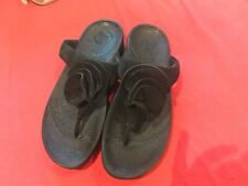 BLACK FITFLOP LADIES SANDALS  SIZE 7