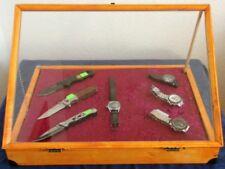 Einen abschließbaren Schaukasten Vitrine,Verkaufsvitrine,Flohmarkt ca:47X33 cm