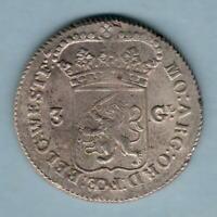 Netherlands - West Friesland.  1764 3 Gulden..  gEF/EF - Much Lustre