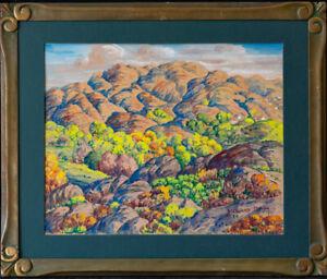"Maynard Dixon (1875 - 1946) California Artist Watercolor ""Mountain Landscape"""