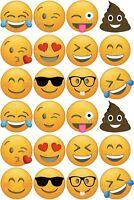 Emoji Smily Smiley Eßbar Tortenbild Party Deko Muffinaufleger neu Cupcake