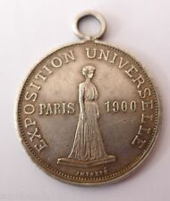 Silbermedaille -EXPOSITION UNIVERSELL PARIS 1900- -American Gold STATUTE-
