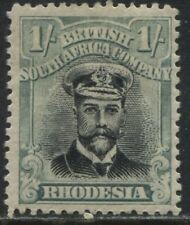 Rhodesia KGV 1913 1/ green and black mint o.g.