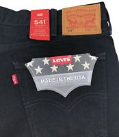 Levis 541 White Oak Cone Denim Jeans Mens Athletic Fit Made In USA Black