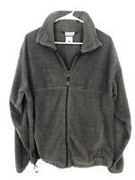 Columbia Sportswear Mens Long Sleeve Fleece Full Zip Jacket Size Large Gray