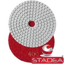 "Diamond Polishing Pads 4"" Wet/Dry Granite Tile Marble Concrete Stone Grit 400"