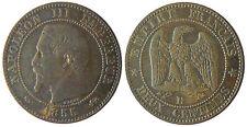 NAPOLEON  III  ,  2  CENTIMES  TÊTE  NUE ,  1855  GRAND  D    ,  ANCRE