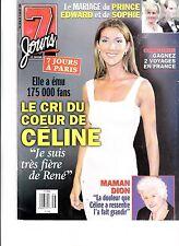 CELINE DION  RARE 7 JOURS MAGAZINE VOLUME 10 JULY 1999