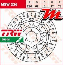 Disque de frein Avant TRW Lucas MSW 236 pour Honda XL 1000 V Varadero SD01 99-00