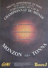 """""""CHAMPIONNAT DU MONDE DE BOXE 1975"""" Affiche originale entoilée de CASTIGLIONI"""
