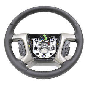 OEM NEW Steering Wheel w/ Black Leather Heat & Controls 2009 Hummer H2 25995626
