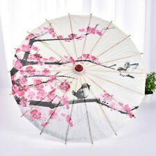 Chinese Japanese Umbrella Art Deco Painted Parasol Wedding  Oil Paper Umbrella