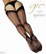 Gio Fully Fashioned Stockings - CUBAN Heel - PERFECTS / All Colours & Sizes